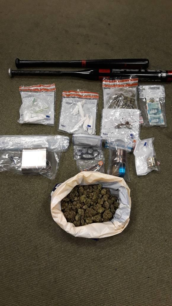 Drugs and weapons were recovered during the raid