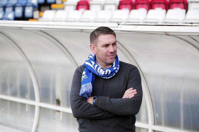 Hartlepool United manager Dave Challinor. Picture: STUART BOULTON