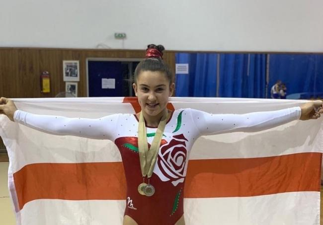 Mercedes Moore flew the flag for her country at an international competition earlier this month