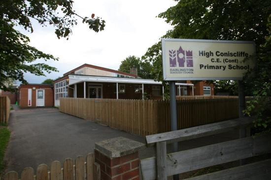 High Coniscliffe CE Primary School has been closed to prevent the spread of infection Picture: TOM BANKS