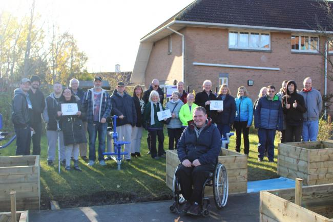 The 'Green Garden' has launched at the Pioneering Care Partnership in the hopes of promoting fitness and health in the community