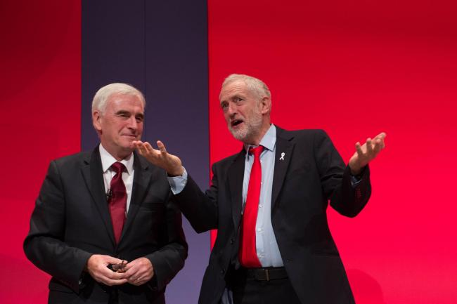 Labour Party leader Jeremy Corbyn , right, and Shadow Chancellor John McDonnell. Picture: Stefan Rousseau/PA Wire