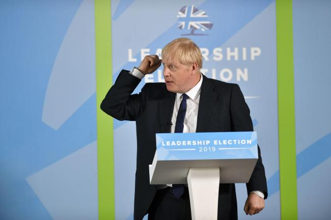 Conservative Party Leadership Campaign 2019. The two remaing candidates to battling to be the next Tory Leader and Prime Minister took part in a hustings event at Carlisle Racecourse. Foreign Secretary Jeremy Hunt and Boris Johnson MP took to the stage se