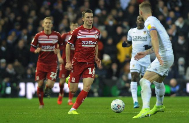 Jonny Howson races through the midfield at Elland Road where Boro lost 4-0. Picture: Tom Banks