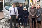 Bus drivers swap places with blind and partially sighted people to learn about the challenges they face