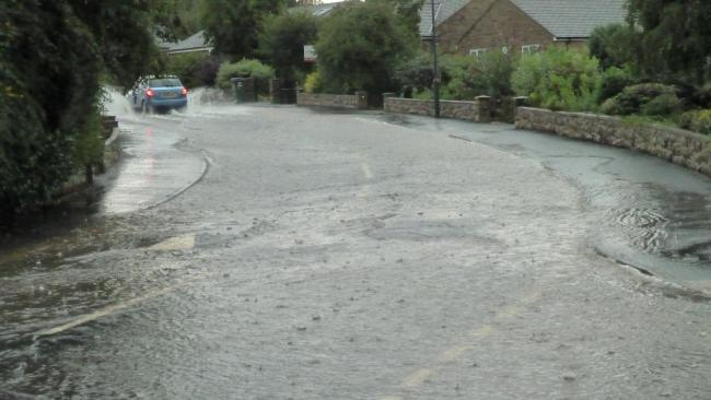 Flooding in Brentwood, Leyburn Picture: DIGBY ANGUS.