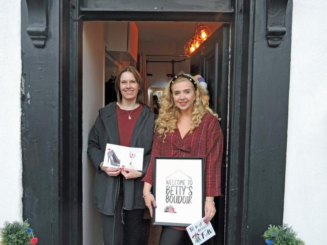 Catherine Lines of All About Words, left, and Lily Grundy of Betty's Boudoir