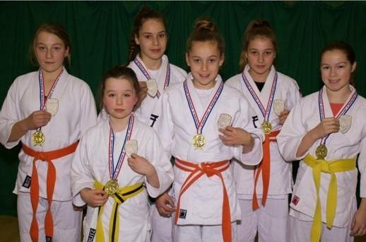 FIJ Sportif's gold-medal winners from the recent British National Judo Championships in Kettering