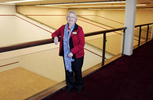 Council leader Heather Scott at the Dolphin Centre squash courts. Picture: STUART BOULTON.