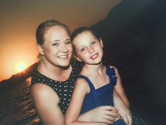 Emma Jordan with her daughter