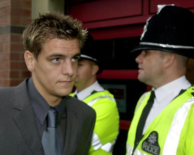 Jonathan Woodgate leaves Leeds Magistrates Court in August 2000 after he was committed to trial on charges of GBH with intent and affray. He was eventually convicted of affray for his part in an attack on student Safraz Najeib