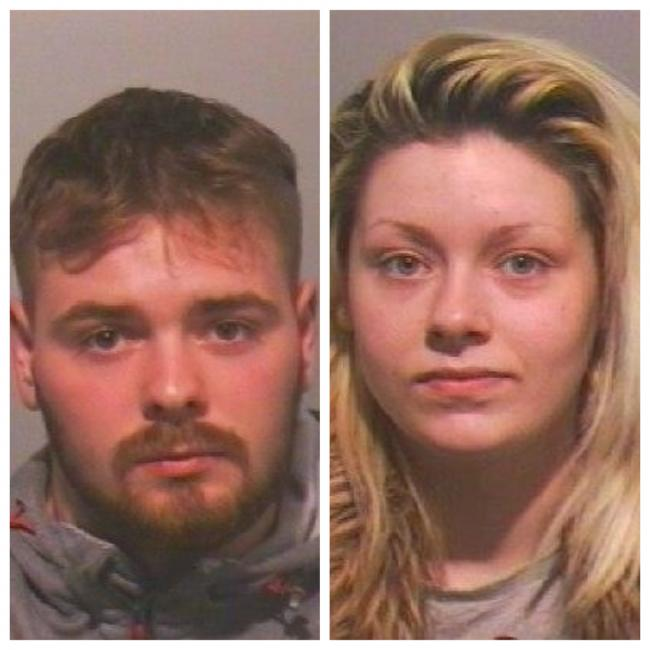 Jordan Craggs and Ellie-Rose Midgley have been jailed for squirting ammonia in man's face
