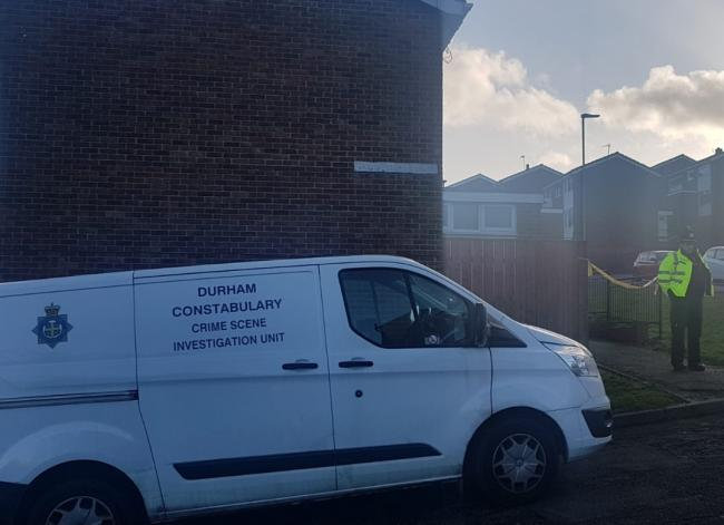 Police at the scene in Horden, County Durham
