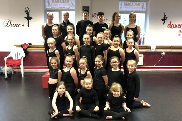 The dancers from both Sonya Marie Academy of Dance in Darlington and Macadam School of Dance in Aycliffe