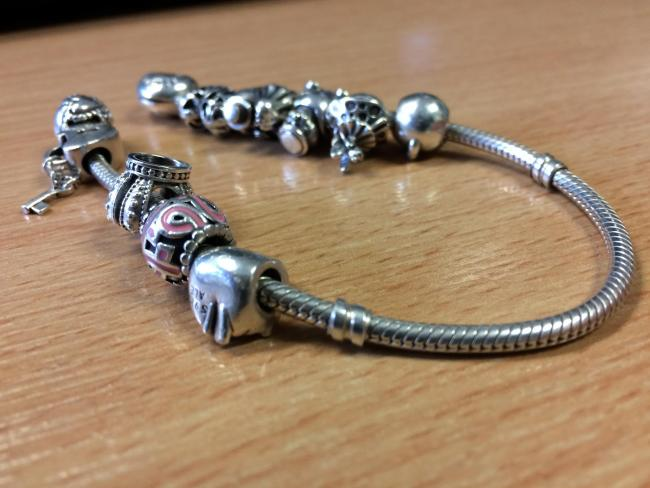 An example of a typical Pandora bracelet