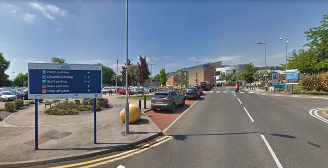 Car parking at the University Hospital of North Durham Picture: Google