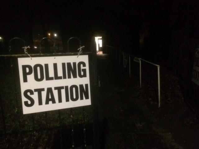 The Blind Centre, in Houghton-le-Spring, operating as a polling station for the day as voters began casting their votes in the Advent General Election, at 7am today
