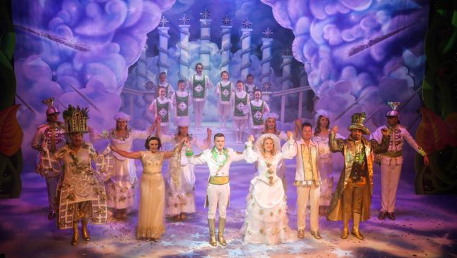 The cast of Jack and the Beanstalk at Darlington Hippodrome.