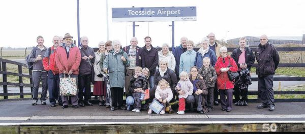 EXCURSION: The rail travellers who took part in the outing from Teesside Airport on Saturday