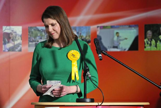 The Northern Echo: Lib Dem leader Jo Swinson reacts as she loses her East Dumbartonshire constituency, during the count at the Leisuredome, Bishopbriggs. Picture: Jane Barlow/PA Wire