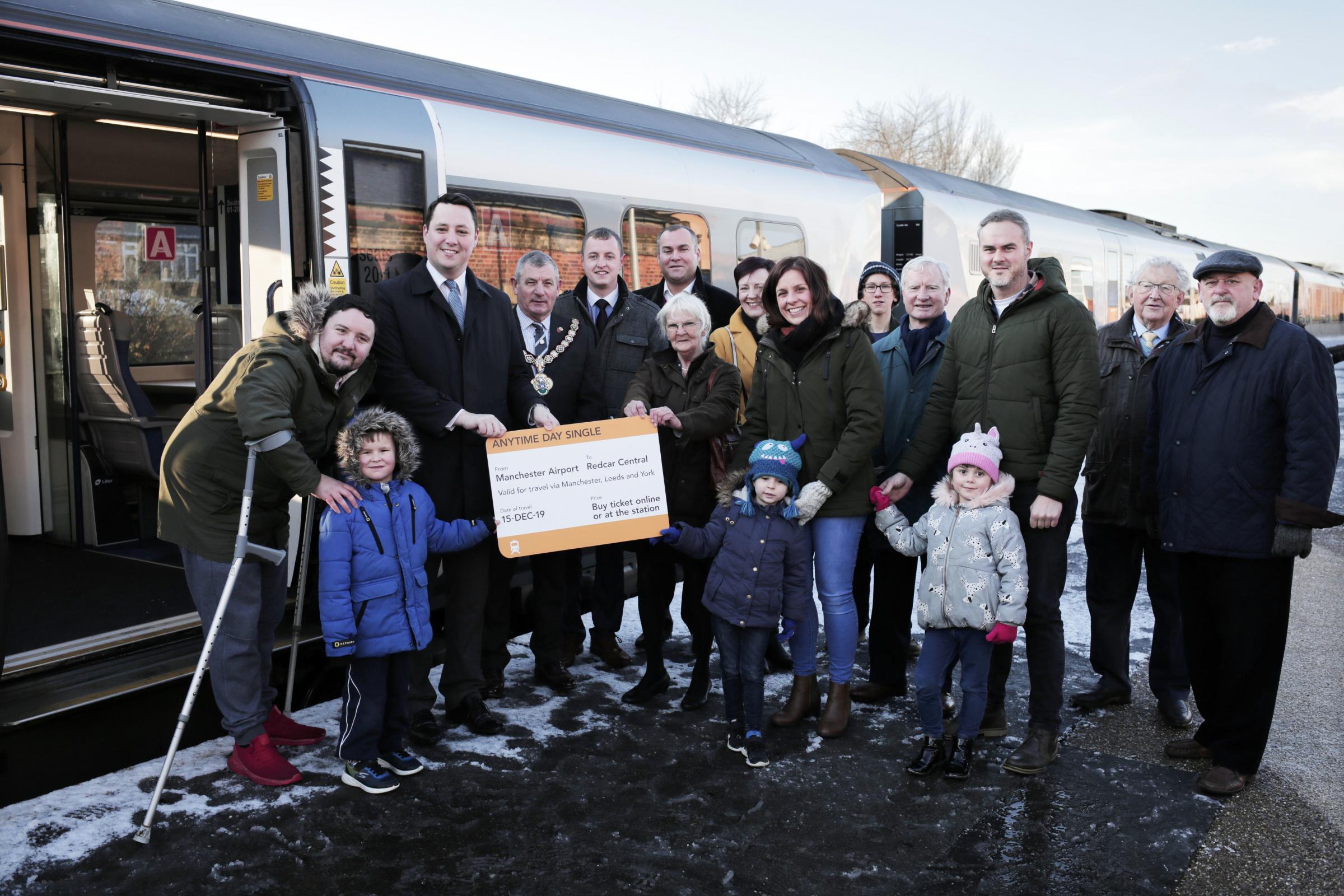 New train service pulls into Redcar