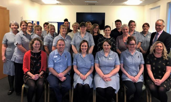 The end of life care team from County Durham and Darlington NHS Foundation Trust