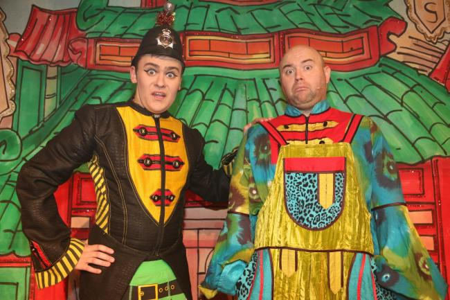 Panto stars Ben Roberts, left and Danny Posthill of Alladin