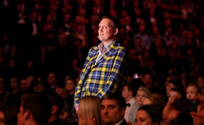 Newcastle Falcons host Melrose tomorrow to raise funds for the charity foundation established by their former player, Doddie Weir, pictured at this month's BBC Sports Personality of the Year awards, where he received the Helen Rollason Award