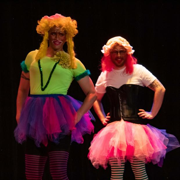 The Northern Echo: Tony Pattison and Joe Owen as the Ugly Sisters
