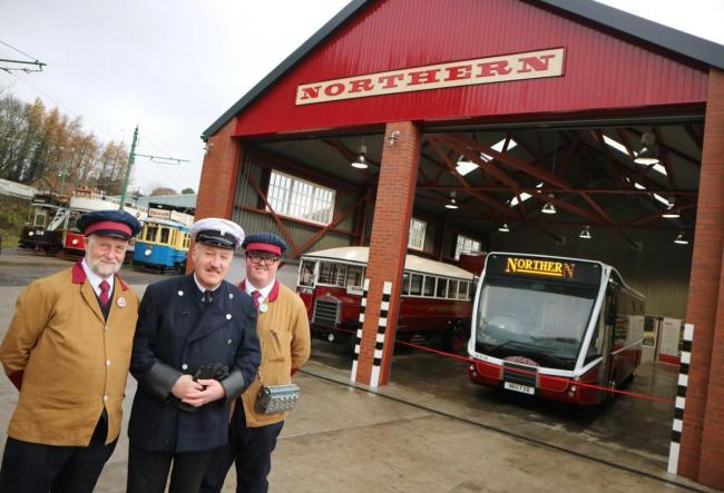 The opening of the recreated Northern General Transport bus depot was one the new deverlopments at Beamish Museum, in 2019