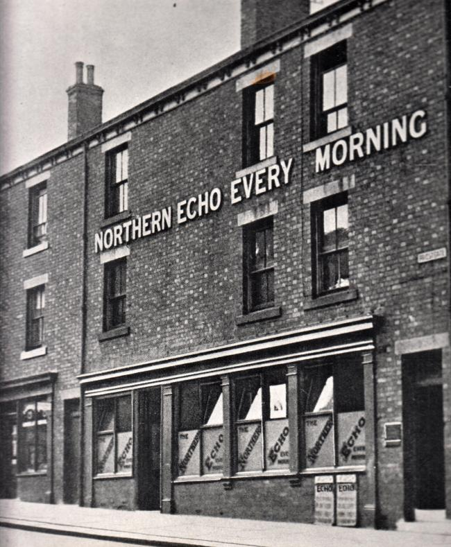 The former shoelace factory in Priestgate, Darlington, in which the Echo was first published on January 1, 1870 – we remain on the same site 150 years later
