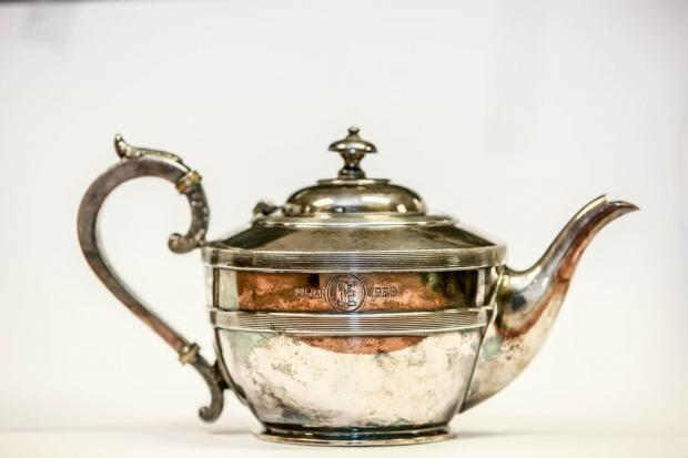 The Northern Echo: One of 660 silver teapots given to readers celebrating their diamond wedding anniversary in 1920 – the paper's 50th anniversary. This inscribed teapot was presented to Mrs and Mrs T Metcalfe of West Stonesdale, near Keld in Swaledale