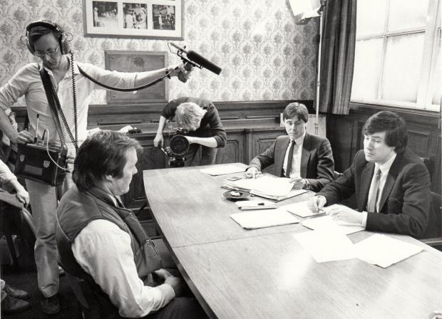 The Northern Echo: Allan Prosser interviewed for the Make It In Business TV programme in 1984