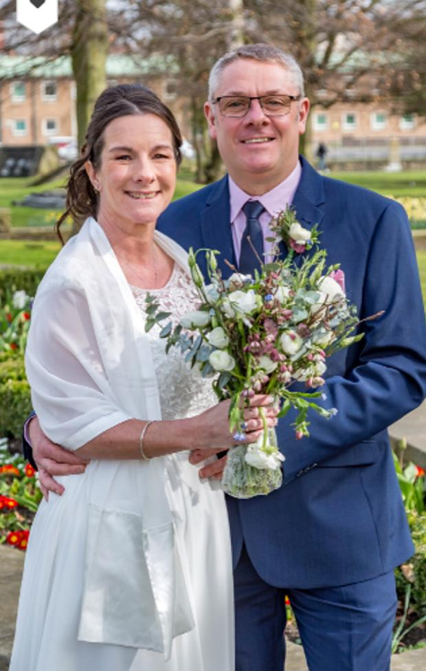 The Northern Echo: The pair at Darlington Registry Office where they tied the knot last March