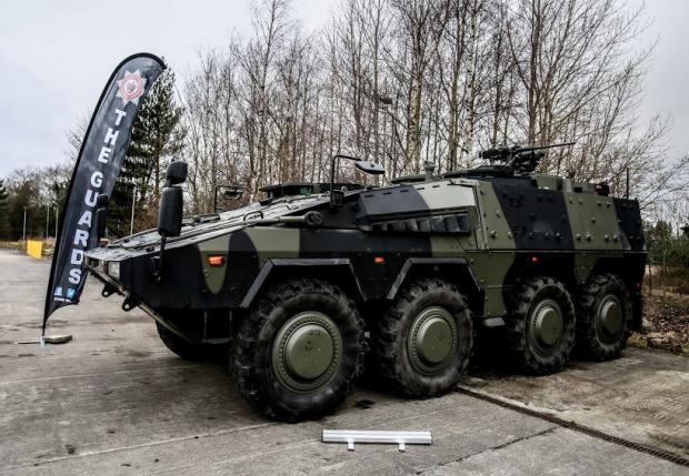 The Northern Echo: The new Boxer wheeled armoured vehicle. Picture: SARAH CALDECOTT