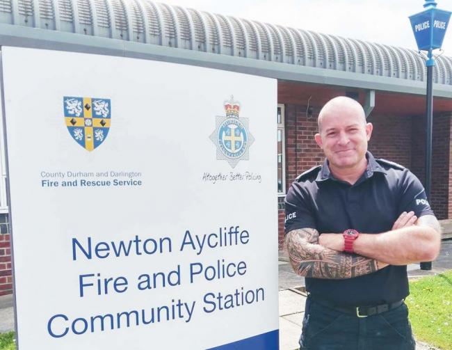 Sergeant Andy Boyd, who has reassured residents anti-social behaviour in Newton Aycliffe will not be tolerated
