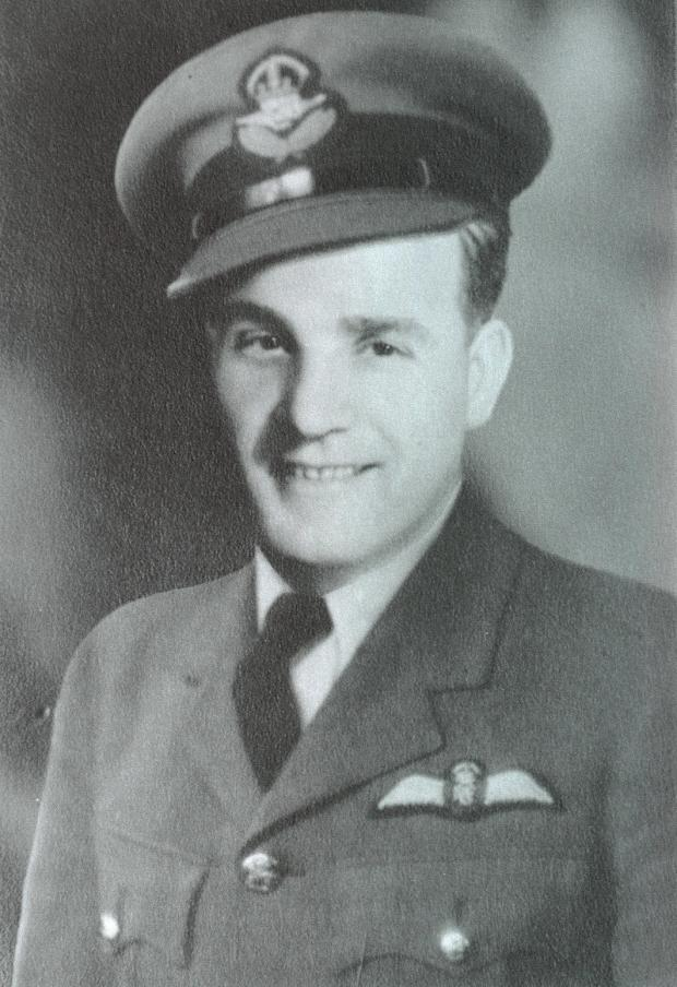 The Northern Echo: Second World War pilot Stuart McMullen who piloted his stricken Lancaster bomber away from houses in Darlington.