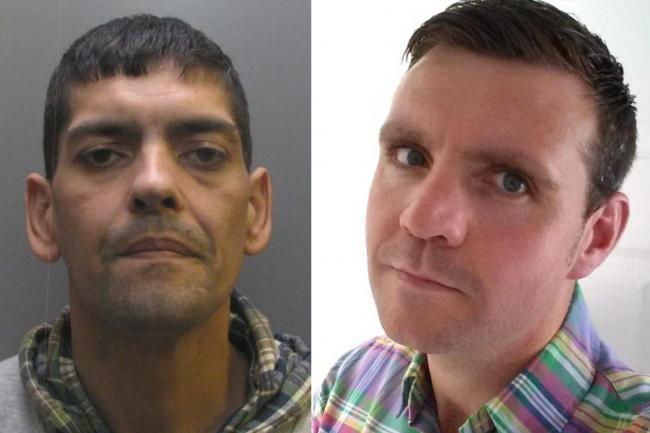 Darren Lee Woodward, pictured left, who has been jailed for 51 months for causing the death of postman, Matthew Carty, pictured right.