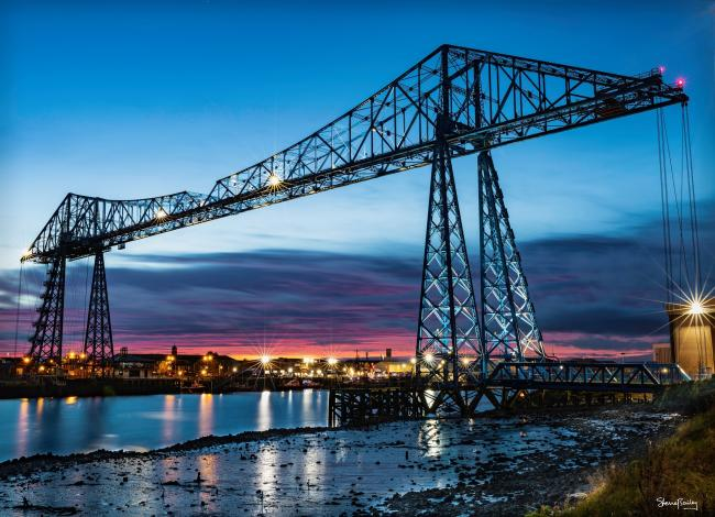 Middlesbrough's Transporter Bridge, pictured by Stephen Bailey of The Northern Echo Camera Club