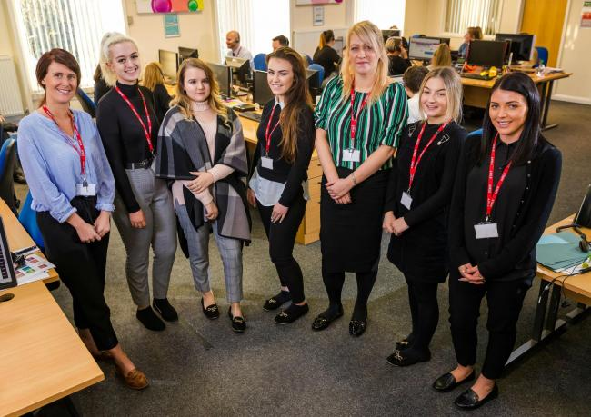 From left, new recruits Bridie Pemberton-Hume, Grace McKie, Leah Foster, Chloe McGuire, April Matthews, Alisha Cameron and Francesca Di Meo