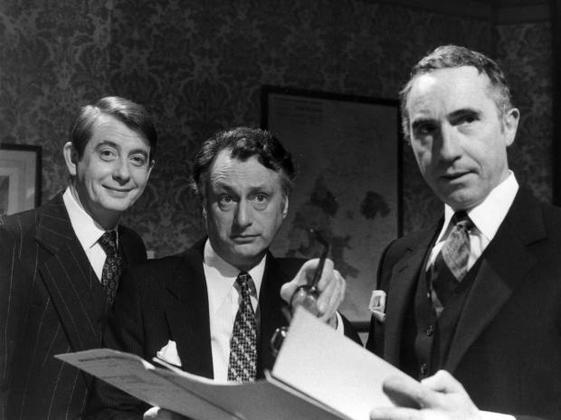 The Northern Echo: From left: Derek Fowlds, Sir Nigel Hawthorne and Paul Eddington in Yes, Minister. Picture: PA