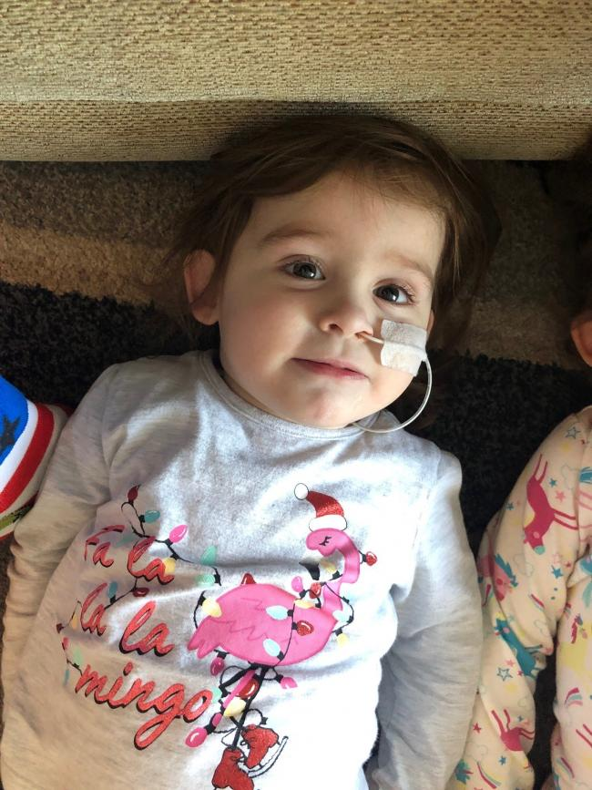 Two-year-old Poppy needs 10 hours of dialysis a day