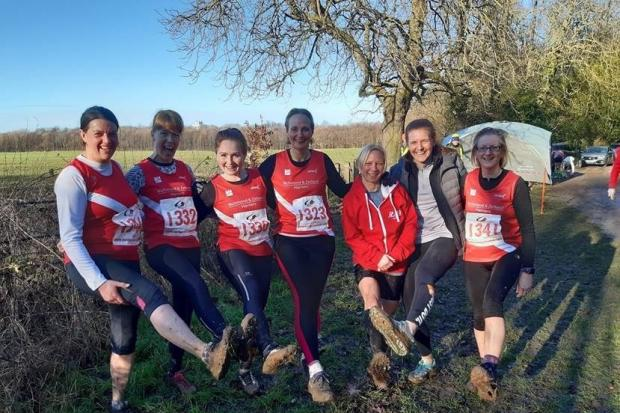Richmond and Zetland Harriers' senior ladies team the Ormesby Hall cross country