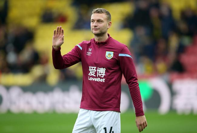 Burnley's Ben Gibson before the Premier League match at Vicarage Road, Watford..