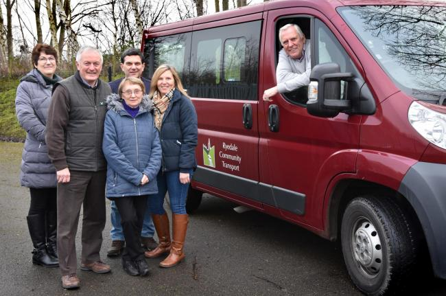 Ryedale Community Transport are appealing for more volunteer drivers   (l-r), Linda Taylor, Hugh Morgan, Linda Thorpe, Ian Wilkinson, Sharon Cawte and Ken Gill  Picture Frank Dwyer.
