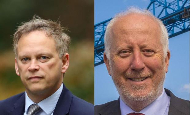 The Northern Echo: Grant Shapps, left, Andy McDonald Middlesbrough MP