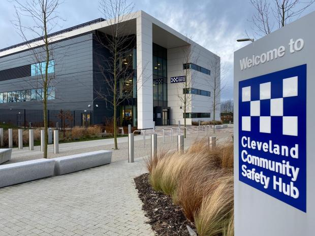 The Northern Echo: The news conference took place at Cleveland Police's Hemlington Safety hub Picture: JIM SCOTT
