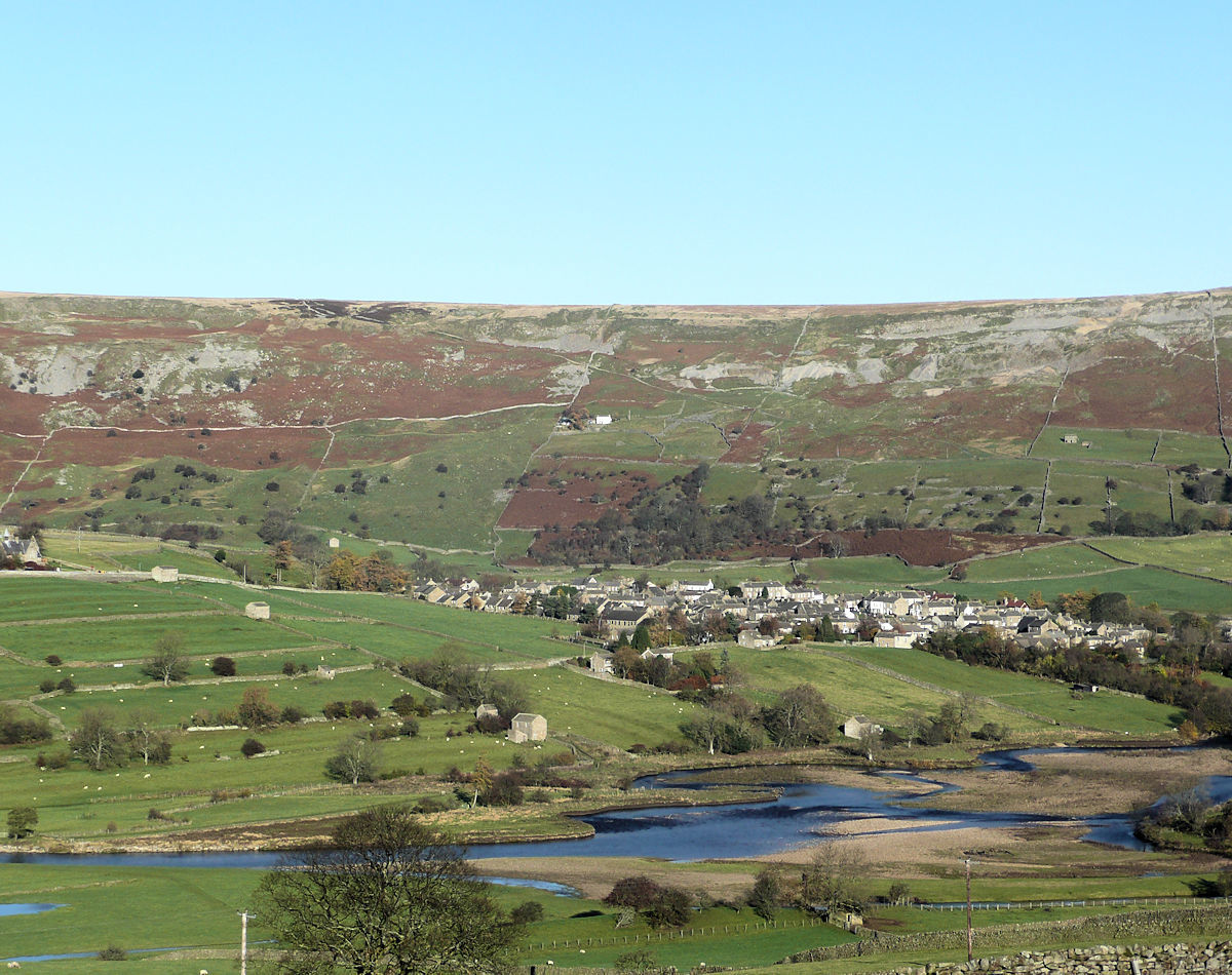 Take a walk through a pretty village with an interesting history surrounded by high moors