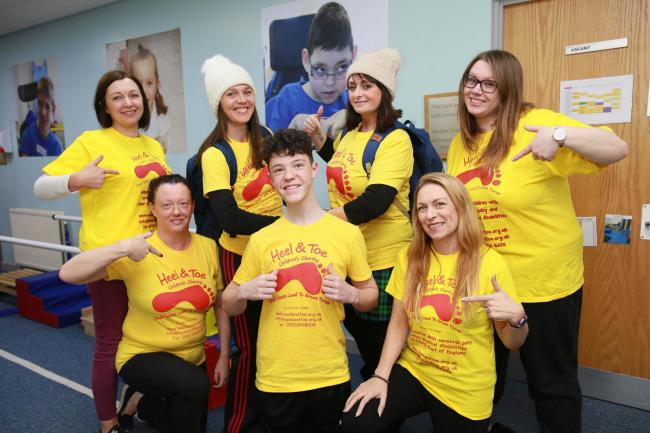 Staff at the Heel and Toe Children's Charity based in Pelton, will be taking part in the Yorkshire Three Peaks Challenge in April Picture: SARAH CALDECOTT