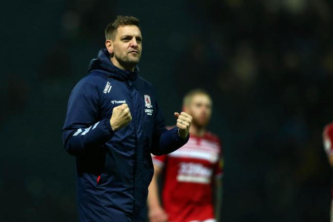 Boro head coach Jonathan Woodgate at the match end